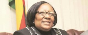 Introducing food for work ... Minister Prisca Mupfumira