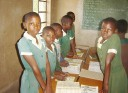girls in rural school setting