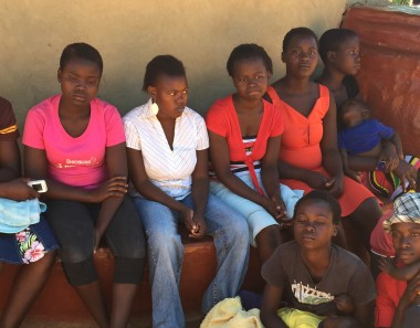A group of child brides at Annandale farm, Shamva, Mashonaland Central Province after participating in a community meeting on ending child marriage.   ©2015 Dewa Mavhinga / Human Rights Watch