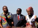 The arrival ... President Robert Mugabe and wife, Grace