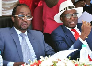 Mates fallen out ... Empowerment minister Patrick Zhuwao (left) with former pal Acie Lumumba