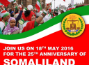 Flyer for a rally. There is a lobby in London and Washington to recognize Somaliland