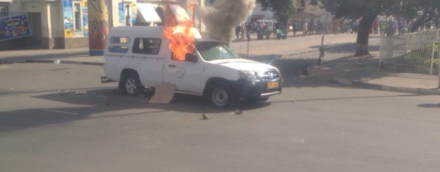 ZBC news crew vehicle torched