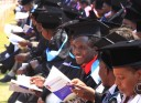 Students attending their graduation ceremony at the University of Zimbabwe in Harare in 2013.