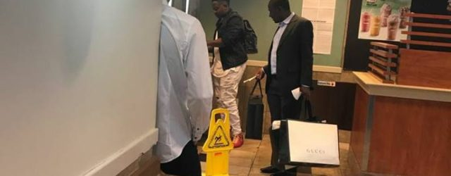 PIC: Mugabe's son known for lavish spending spotted shopping in New York
