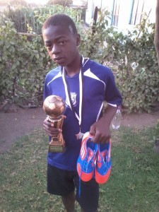 Lexington Mujokoro after his big win.