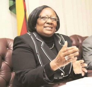 Public Service Minister Prisca Mupfumira