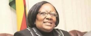 Introducing food for work ... Minister Prisca Mupfumira