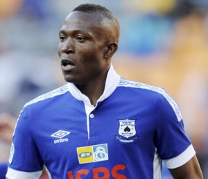 Tendai Ndoro of Black Aces during the 2014 MTN 8 Quarter Finals match between Kaizer Chiefs and Black Aces at FNB Stadium,  Johannesburg on the 03 August  2014 ©Muzi Ntombela/BackpagePix