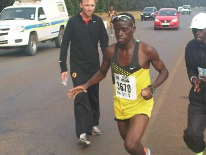 Zimbabwean star athlete, Munyaradzi Jari.