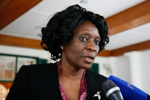 The Zimbabwe Electoral Commission Chairperson,  Rita Makarau.
