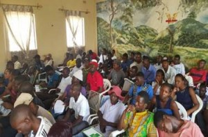 Part of the participants during the Chinhoyi meeting.