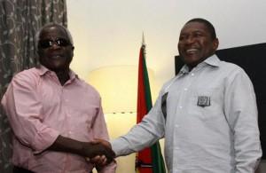 Afonso Dhlakama meets President Filipe Nyusi