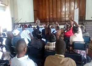 Part of the proceedings during the Mutare Meeting.