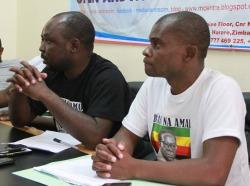 Ready to name and shame ... Godfrey Tsenengamu and Godwin Gomwe