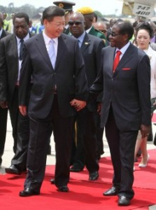 Cdes in arms ... President Mugabe and China's Xi Jinping