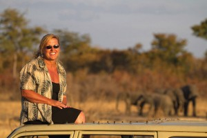 Sharon spent hours every day sitting on the roof of her 4×4 recording the lives of the Presidential Elephants ©NHU Africa
