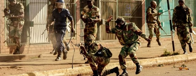 Zim army denies killing civilians during post-election protests