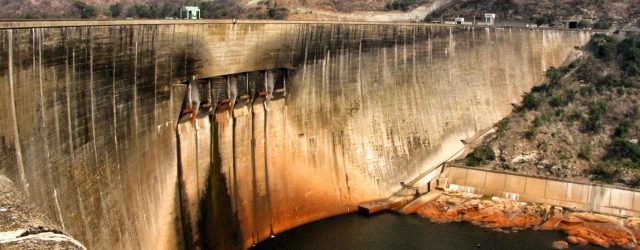 Water levels at Zimbabwe's Lake Kariba continue to decline following drought