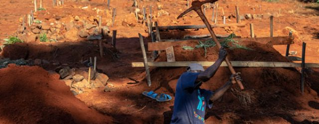 As Zimbabwe's COVID cases surge, gravediggers struggle to cope