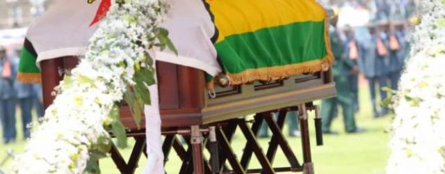 Robert Mugabe's state funeral takes place in Harare