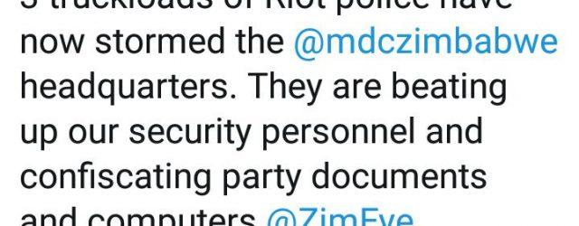 Breaking – MDC headquarters under siege